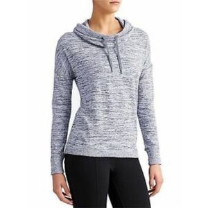 Athleta blissful cowl neck sweatshirt gray medium